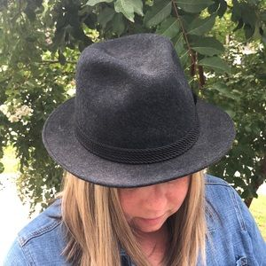 Vintage Gray Wool Mallory by Stetson Hat